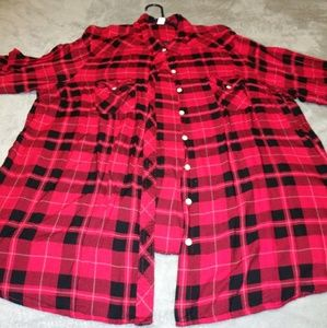 Torrid Red and Black Flannel